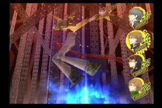 Yosuke summoning his Persona.