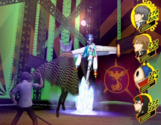 The MC and company confront Naoto's Shadow.