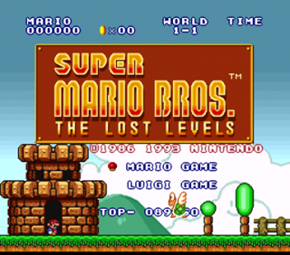 The Japanese Super Mario Bros. 2 is included under the title
