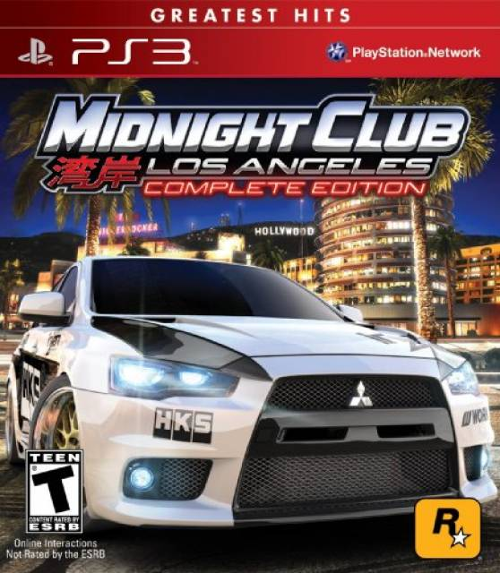 The Evo X on the cover of Midnight Club: Los Angeles Complete Edition