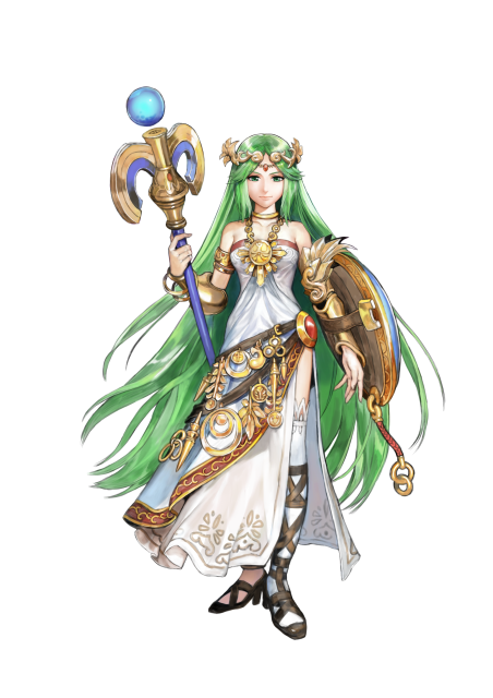 Concept art of Palutena for Kid Icarus: Uprising.