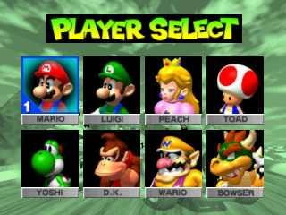 Player select screen