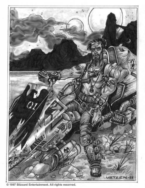 Metzen's concept art, based on the 'Easy Rider'