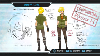 Concept art of Samus Aran in her Galactic Federation Army uniform.