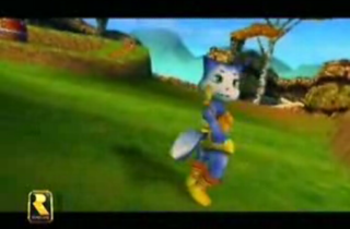 An early version of Krystal from the N64 version of Dinosaur Planet.