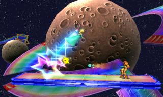 Rosalina & Luma taking on Samus in the 3DS version.