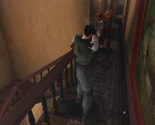 A screenshot taken from the original 1996 PS1 Resident Evil
