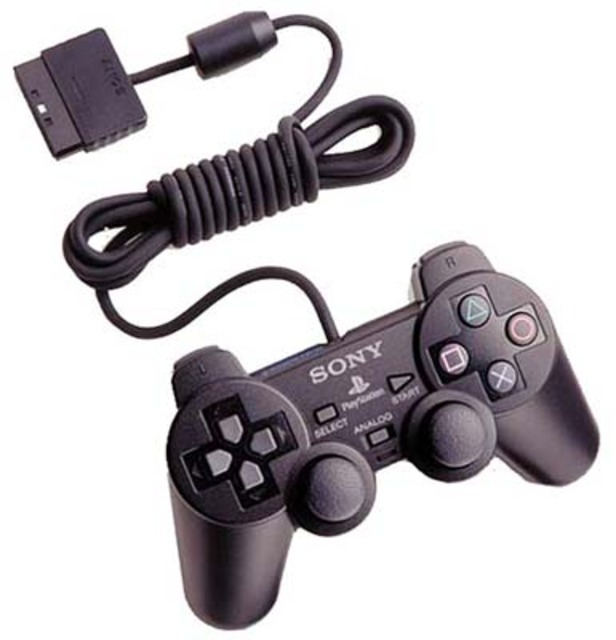 Because the controller is identical, you can use a PS2 controller on a PS1.