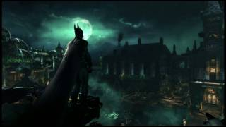 Batman looking out over the asylum.