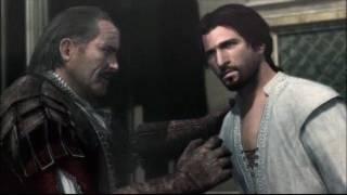 Ezio and his uncle Mario at the Villa.