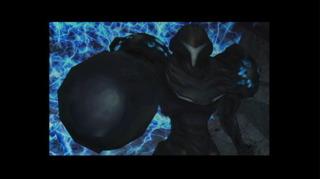 Dark Samus as it appears in Metroid Prime 2: Echoes