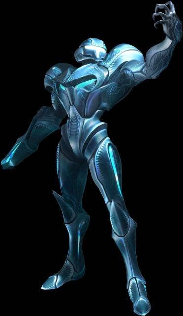 Dark Samus as it appears in Metroid Prime 3: Corruption
