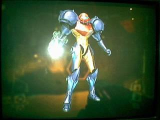 Samus in her Gravity Suit.