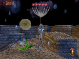 A memorable sequence in the game featured Flik using dandelions to glide across a level
