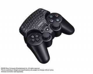 Keypad attached to the controller