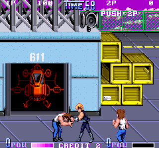 The first level in the arcade game.