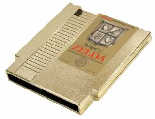 The gold cartridge version of the game.