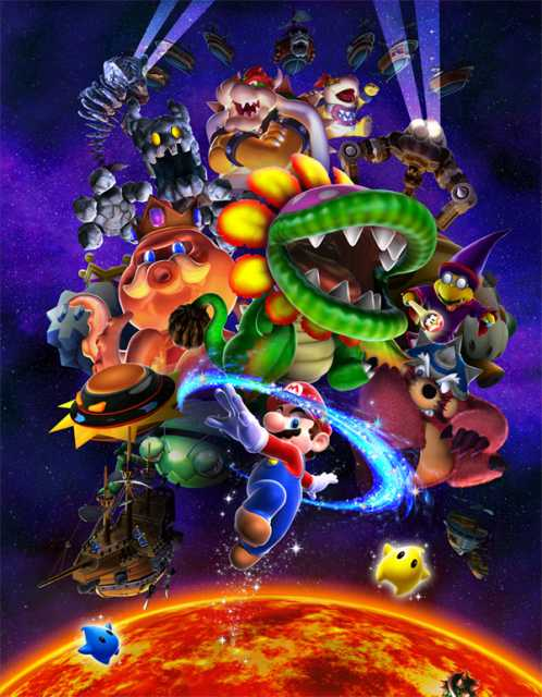 Many of the characters from Super Mario Galaxy