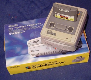 The Satellaview and its box.