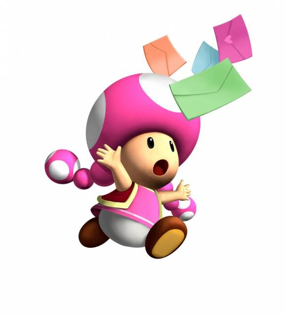 Toadette, the franchise's first secret character.