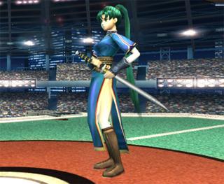 Lyn in Super Smash Bros. Brawl.