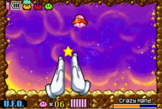 Master Hand and Crazy Hand in Kirby and the Amazing Mirror.