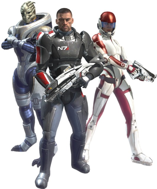Garrus, Ashley and commander shepard