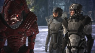 Wrex, Kaiden and Commander Shepard