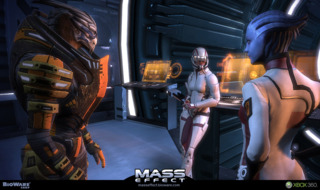 From left to right, Garrus, Ashley and Liara