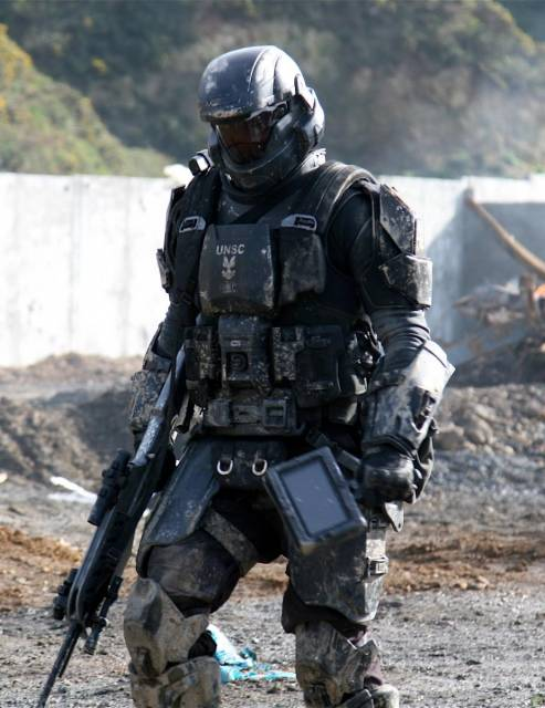 An ODST on the battlefield