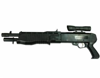 A real-world example of a SPAS-12 with pistol grip.
