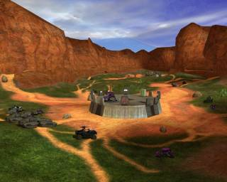 Blood Gulch, one of the more iconic maps in the Halo series.
