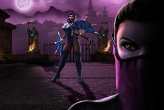 MK Kitana and Mileena, her evil clone and nemesis in the series, in MK Armageddon