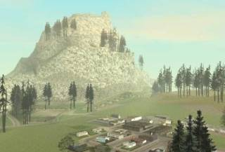 Mount Chiliad, located near the small town of Angel Pine.