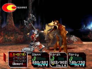 A battle in Chrono Cross