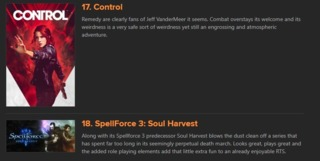 With Control only being #17, you can expect some SPICY takes on MoonlightMoth's 2019 GOTY list!