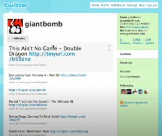 The Giant Bomb nonsense account also found this ancient Tweet from the Giant Bomb Twitter Account.