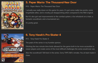 I will die on the hill saying Super Mario RPG is better than Thousand-Year Door. COME AT ME, HATERS!
