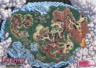 Lunar Silver Star Story cloth map