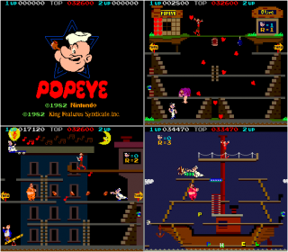 Three Stages of Popeye