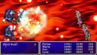Battle scene from the PSP remake.