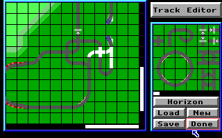 An example of a track being created in the Track Editor.
