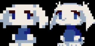 Sue, as seen in the PC version (left) and the enhanced WiiWare version (right).