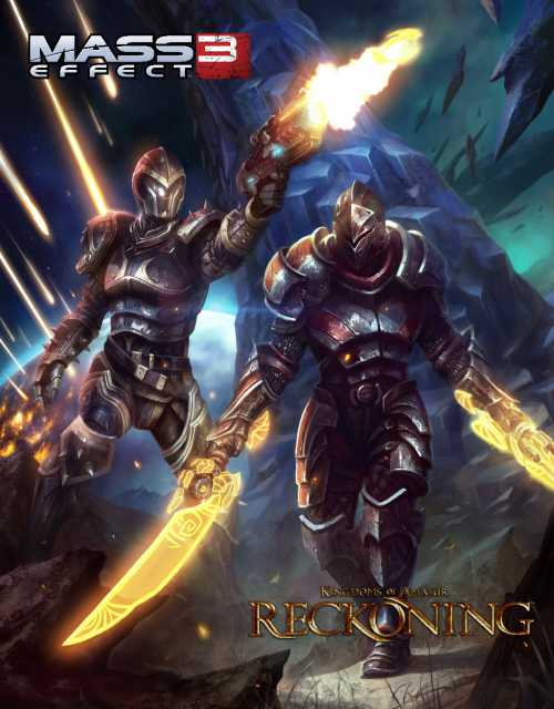 Crossover promotional image with Kingdoms of Amalur: Reckoning.