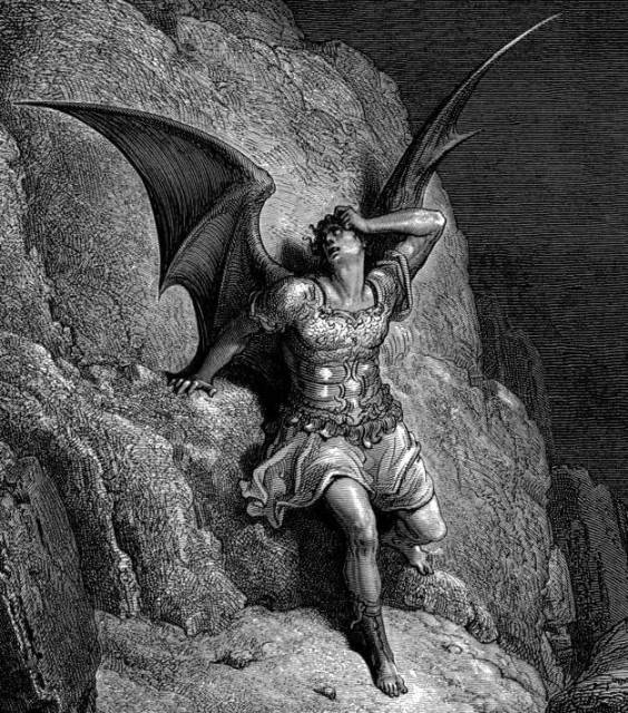 Satan, as depicted by artist Gustave Dore in Paradise Lost.