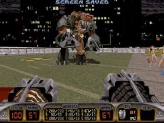 The last level of Duke Nukem 3D.