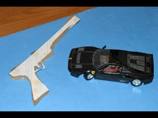Rotoscoping models for Lester's gun and sports car used during development