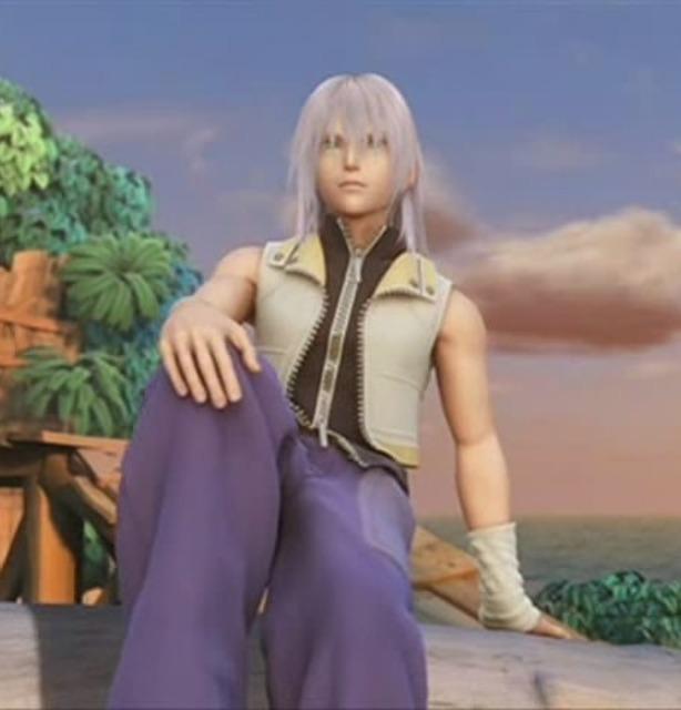 Riku during the games Ending CG