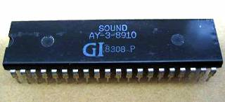 AY-3-8910, used in many computers and arcades. Most notably in the ZX Spectrum.