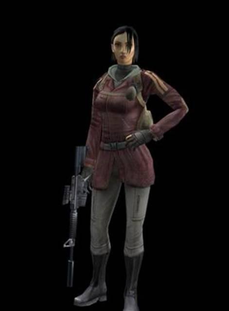 Jennifer Mui, as she appears in the original Mercenaries.